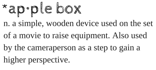Apple Box - a video production essential