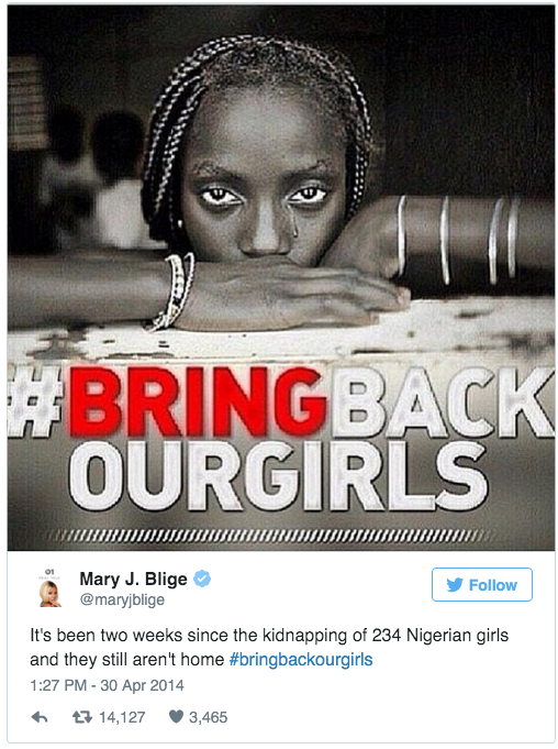 Mary J. Blige - #BringBackOurGirls