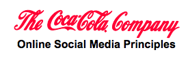 Coca-Cola Online Social Media Principles