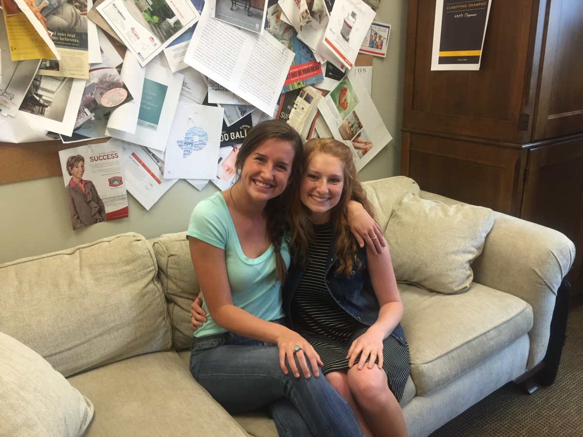 Summer 2016 Marketing Interns - Madison Fox (left) and Haley Habovick (right)