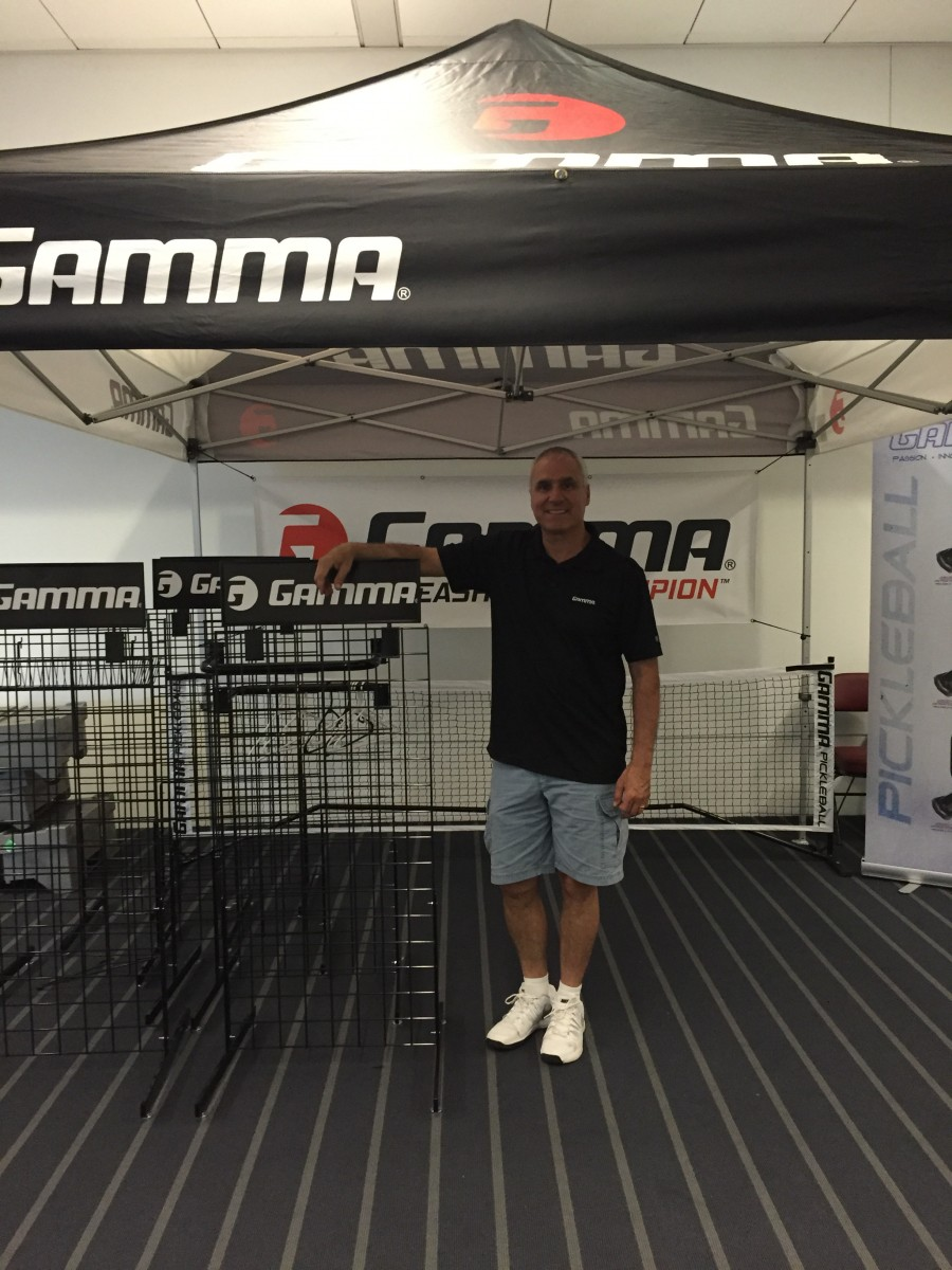 Sponsor tent at the Gamma Pickleball Classic