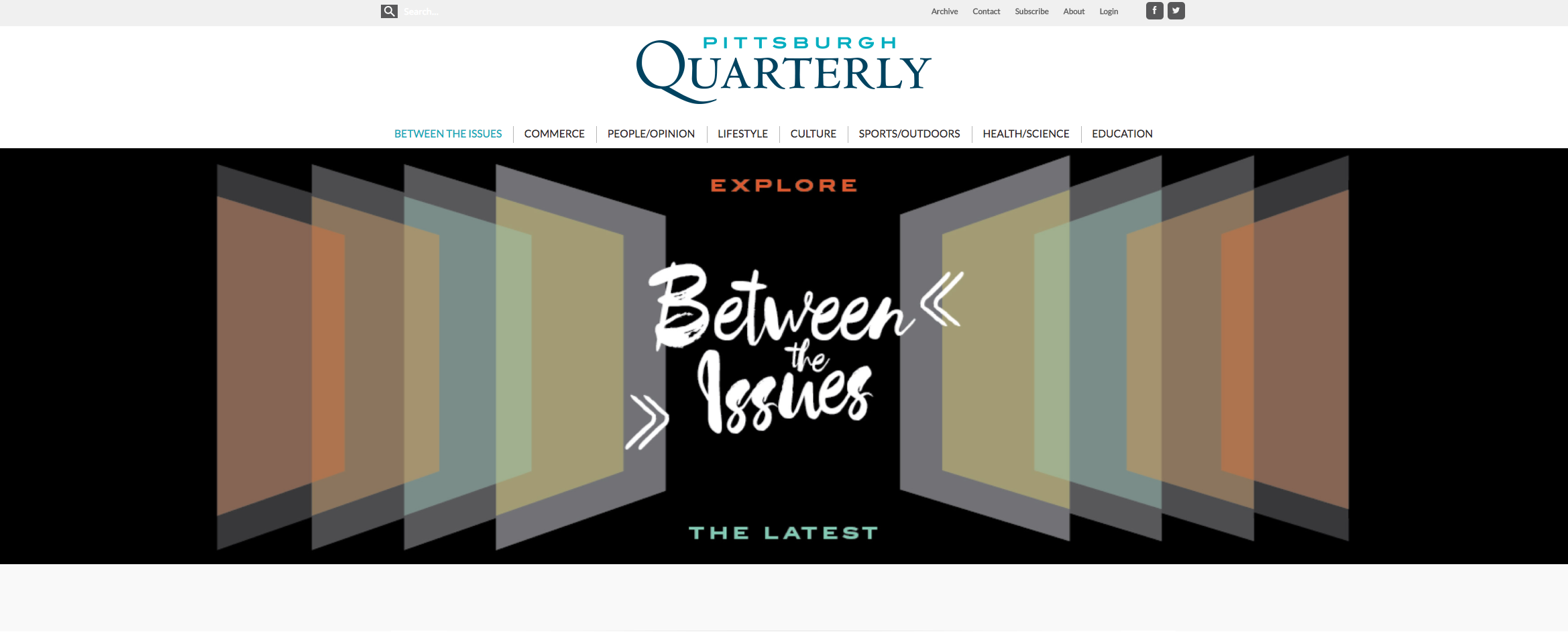 Pittsburgh Quarterly: Website Development Project